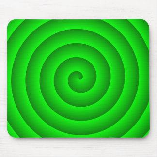 Persona hipnotizada verde alfombrilla de ratones