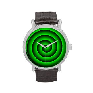 Persona hipnotizada verde y negra reloj
