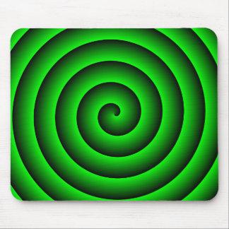 Persona hipnotizada verde y negra tapete de raton