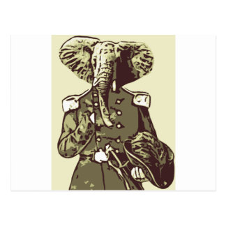Persona intrépida del elefante tarjeta postal