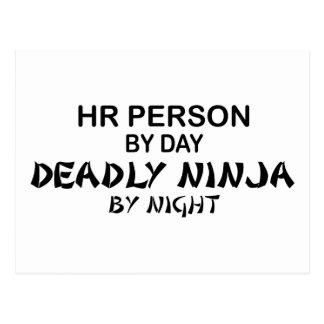 Persona Ninja mortal de la hora Tarjeta Postal