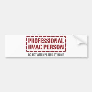 Persona profesional de la HVAC Pegatina De Parachoque