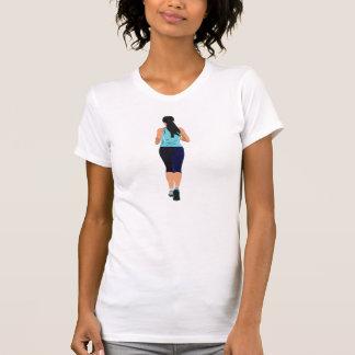 Persona que funciona con la camiseta para mujer camisas