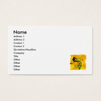 Persona que practica surf abstracta anaranjada tarjetas de visita