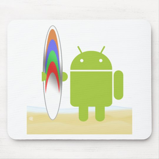 Persona que practica surf androide tapete de raton