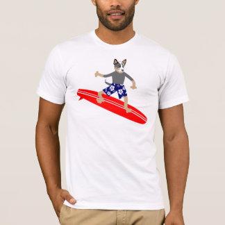 Persona que practica surf australiana del perro playera