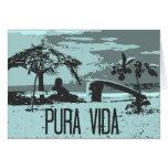 Persona que practica surf azul de Costa Rica Pura  Tarjeta