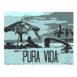 Persona que practica surf azul de Costa Rica Pura Postal