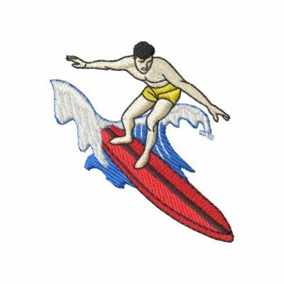 Persona que practica surf camiseta polo