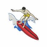 Persona que practica surf chaqueta bordada de entrenamiento