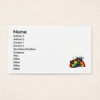 Persona que practica surf con el arco iris tarjetas de visita