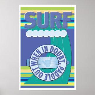 Persona que practica surf - cuando en duda, paleta póster