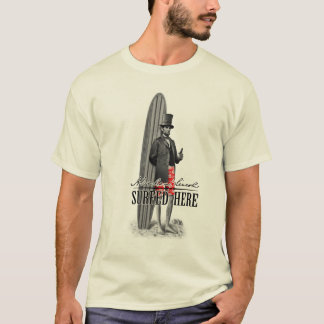 Persona que practica surf de Abe Lincoln Playera