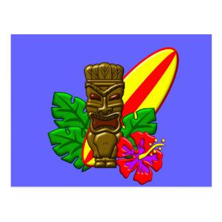 Persona que practica surf de Hawaii de la hawaiana Postales
