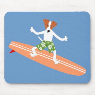 Persona que practica surf de Jack Russell Terrier  Alfombrillas De Ratón