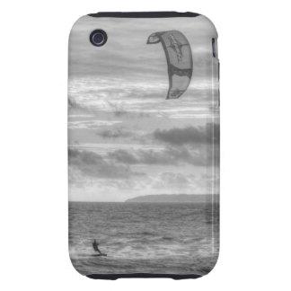 Persona que practica surf de la cometa iPhone 3 tough coberturas