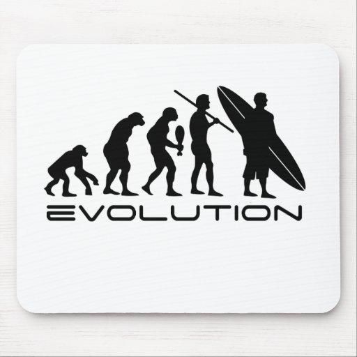 Persona que practica surf de la evolución alfombrillas de raton
