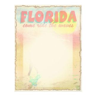 Persona que practica surf de la Florida Membrete A Diseño