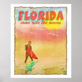 Persona que practica surf de la Florida Posters