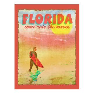 Persona que practica surf de la Florida Tarjeta Postal