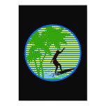 Persona que practica surf de la isla invitación 12,7 x 17,8 cm