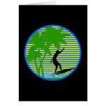 Persona que practica surf de la isla tarjeta pequeña