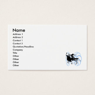 Persona que practica surf de la silueta tarjetas de visita