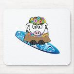 Persona que practica surf de la vaca de Hula Tapete De Ratón