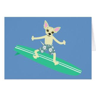 Persona que practica surf de Longboard de la chihu Felicitación