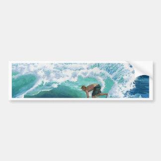 Persona que practica surf de Skimboard Pegatina Para Auto