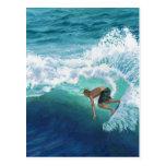 Persona que practica surf de Skimboard Postales