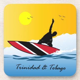 Persona que practica surf de Trinidad and Tobago Posavasos De Bebida