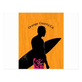 Persona que practica surf del Condado de Orange Postales