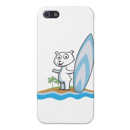 Persona que practica surf del oso polar iPhone 5 carcasa