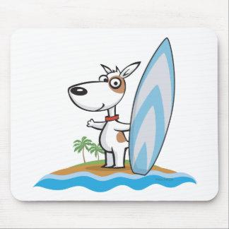Persona que practica surf del perro alfombrillas de ratón