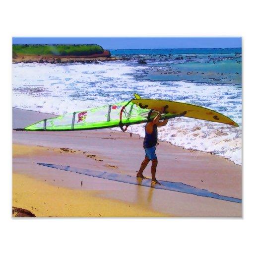 Persona que practica surf del viento, impresión 11 cojinete