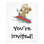 persona que practica surf divertida linda tonta de invitaciones personales