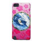 Persona que practica surf en el círculo de bambú funda para iPod touch 5G
