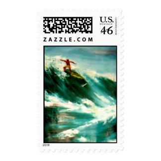Persona que practica surf - franqueo