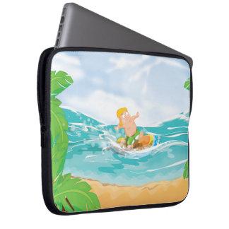 Persona que practica surf manga portátil