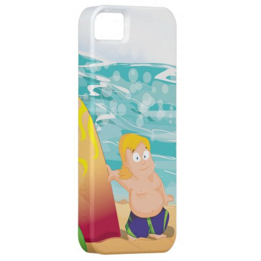 Persona que practica surf funda para iPhone 5 barely there