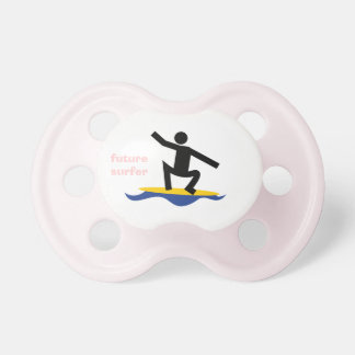 Persona que practica surf futura, persona que prac chupetes de bebe