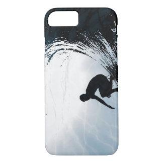 Persona que practica surf grande de la onda funda iPhone 7