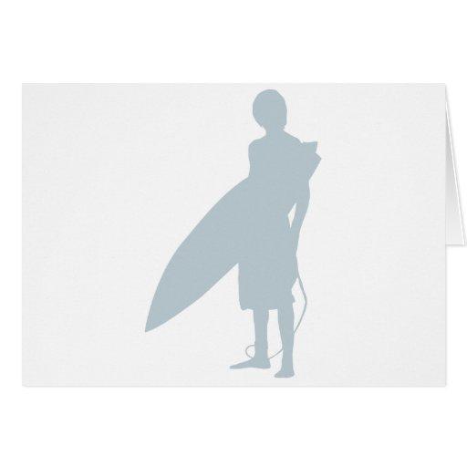 Persona que practica surf III Felicitacion