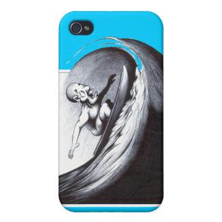 Persona que practica surf iPhone 4 carcasas