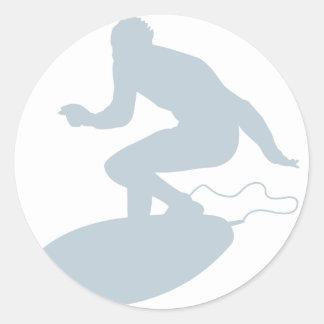 Persona que practica surf IV Pegatinas Redondas