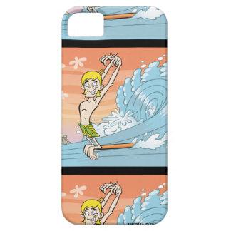 Persona que practica surf Joe Hangin diez iPhone 5 Carcasas