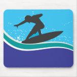 Persona que practica surf Mousepad Alfombrillas De Raton