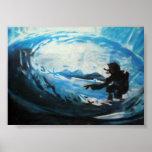 persona que practica surf poster