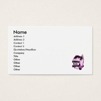 Persona que practica surf púrpura tarjetas de visita